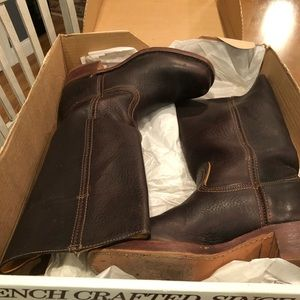 Frye dark brown 14L boots size 9